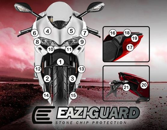 Eazi-Guard Stone Chip Paint Protection Film for Ducati Panigale 1299