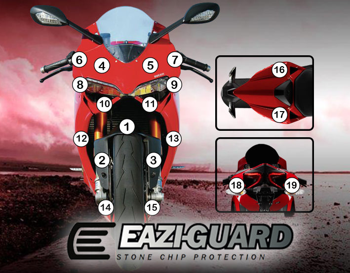 Eazi-Guard Stone Chip Paint Protection Film for Ducati Panigale 899 1199 matte