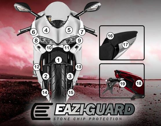 Eazi-Guard Stone Chip Paint Protection Film for Ducati Panigale 959