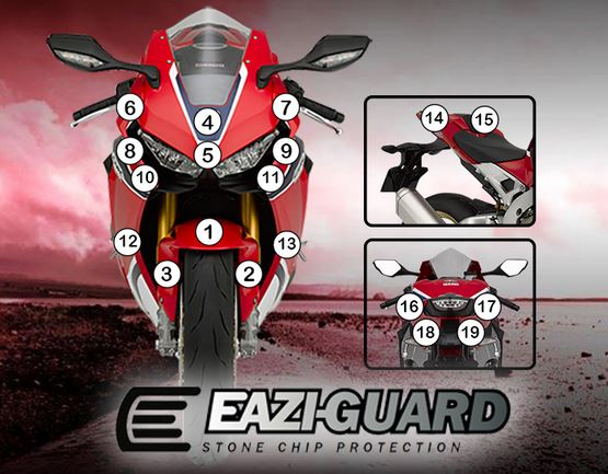 Eazi-Guard Stone Chip Paint Protection Film for Honda CBR1000RR Fireblade 2017