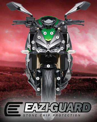 Eazi-Guard Stone Chip Paint Protection Film for Kawasaki Z1000 2014 - 2017 matte