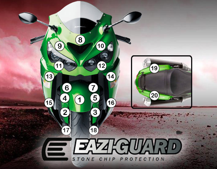 Eazi-Guard Stone Chip Paint Protection Film for Kawasaki Ninja ZX-14R