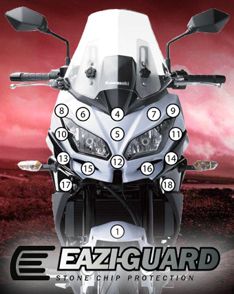 Eazi-Guard Stone Chip Paint Protection Film for Kawasaki Versys 650 2015 - 2017