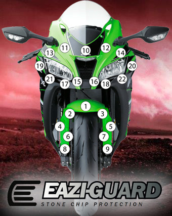 Eazi-Guard Stone Chip Paint Protection Film for Kawasaki ZX-10R 2016 - 2018