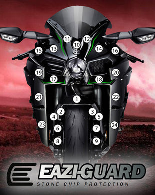 Eazi-Guard Stone Chip Paint Protection Film for Kawasaki Ninja H2 2015