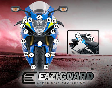 Eazi-Guard Paint Protection Film for Suzuki GSX-R 600 / 750 2011 - 2018 matte