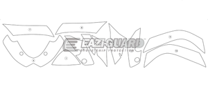 Eazi-Guard Stone Chip Paint Protection Film for Suzuki GSX-R 1000 2009 - 2016