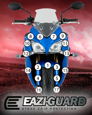 Eazi-Guard Paint Protection Film for Suzuki GSX-S 1000F 2015 - 2017 matte