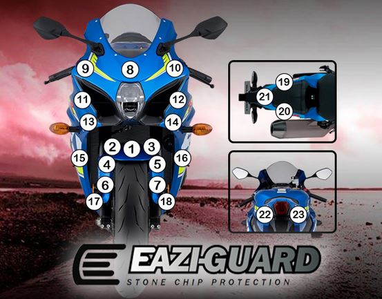 Eazi-Guard Stone Chip Paint Protection Film for Suzuki GSX-R 1000 matte