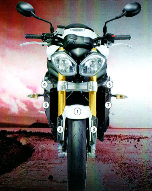 Eazi-Guard Stone Chip Paint Protection Film for Triumph Speed Triple 2011 - 2015