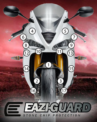 Eazi-Guard Paint Protection Film for Triumph Daytona 675 / R 2013 - 2016 matte