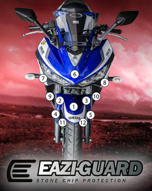 Eazi-Guard Paint Protection Film for Yamaha YZF-R3 2015 - 2018 matte