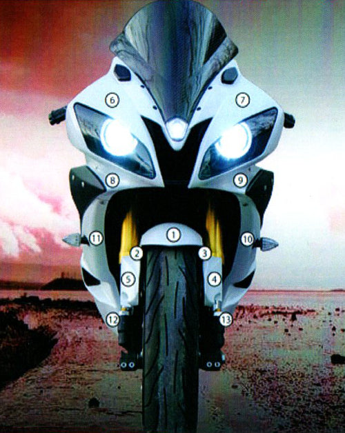 Eazi-Guard Paint Protection Film for Yamaha YZF-R6 2008 - 2016