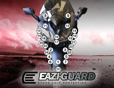 Eazi-Guard Paint Protection Film for Yamaha FJR1300AE/AS matte