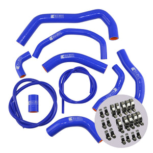 Eazi-Grip Silicone Hose and Clip Kit for Honda CBR600RR 2007 - 2019  blue