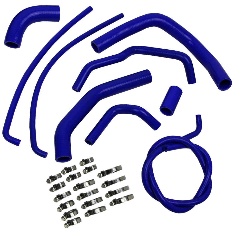 Eazi-Grip Silicone Hose and Clip Kit for Kawasaki Z1000 2010 - 2014  blue