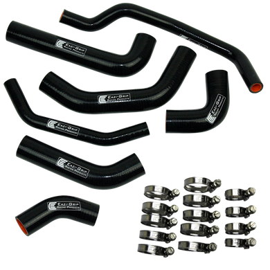 Eazi-Grip Silicone Hose and Clip Kit for Kawasaki ZX-10R  black