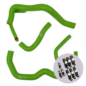 Eazi-Grip Silicone Hose and Clip Kit (Race) for Kawasaki ZX-6R 2009 - 2019  green
