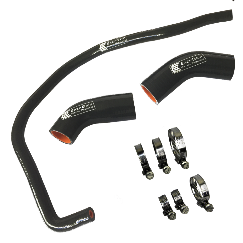 Eazi-Grip Silicone Hose and Clip Kit for Yamaha YZF-R1 Black