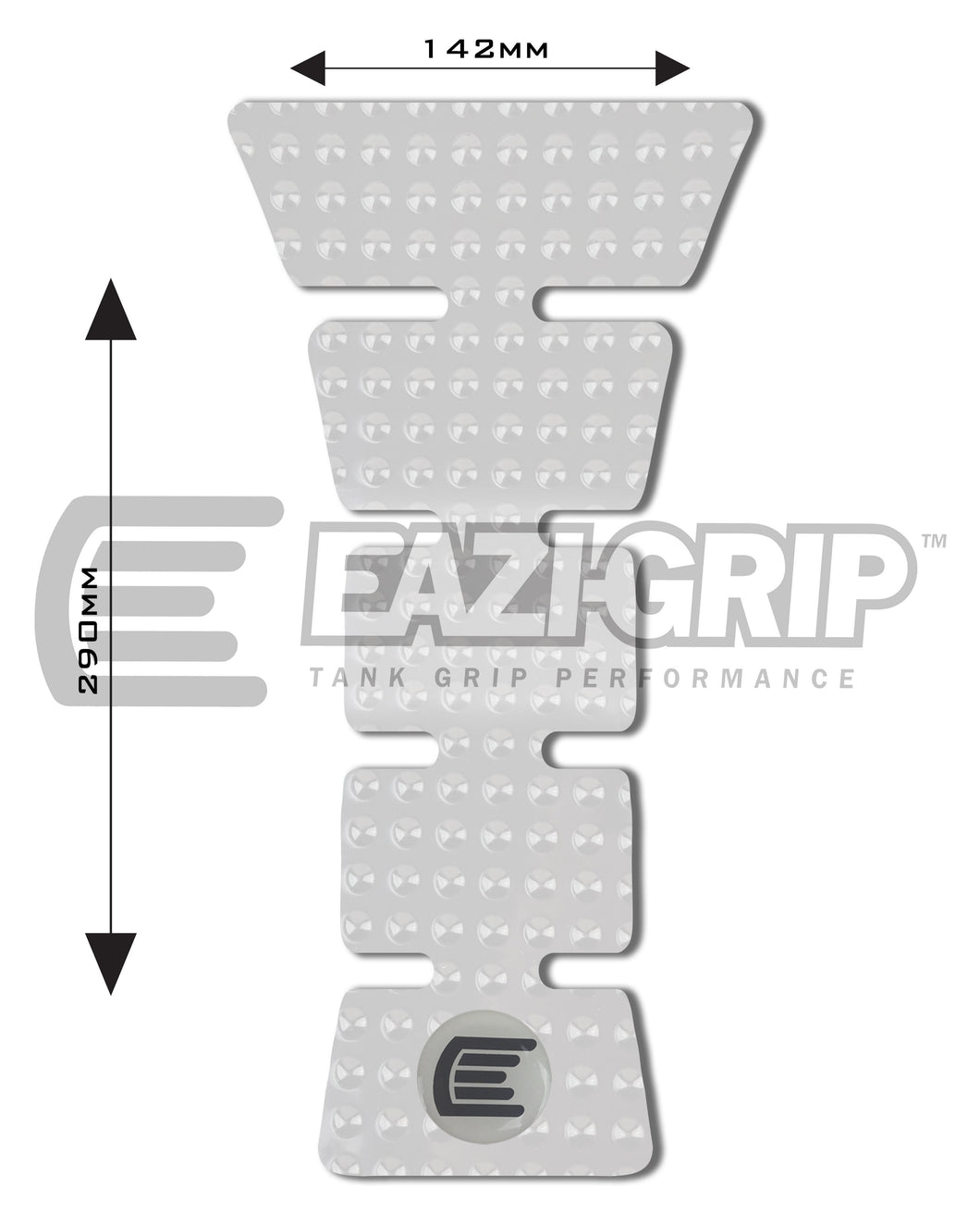 Eazi-Grip EVO Centre Tank Pad E 142mm x 290mm  clear
