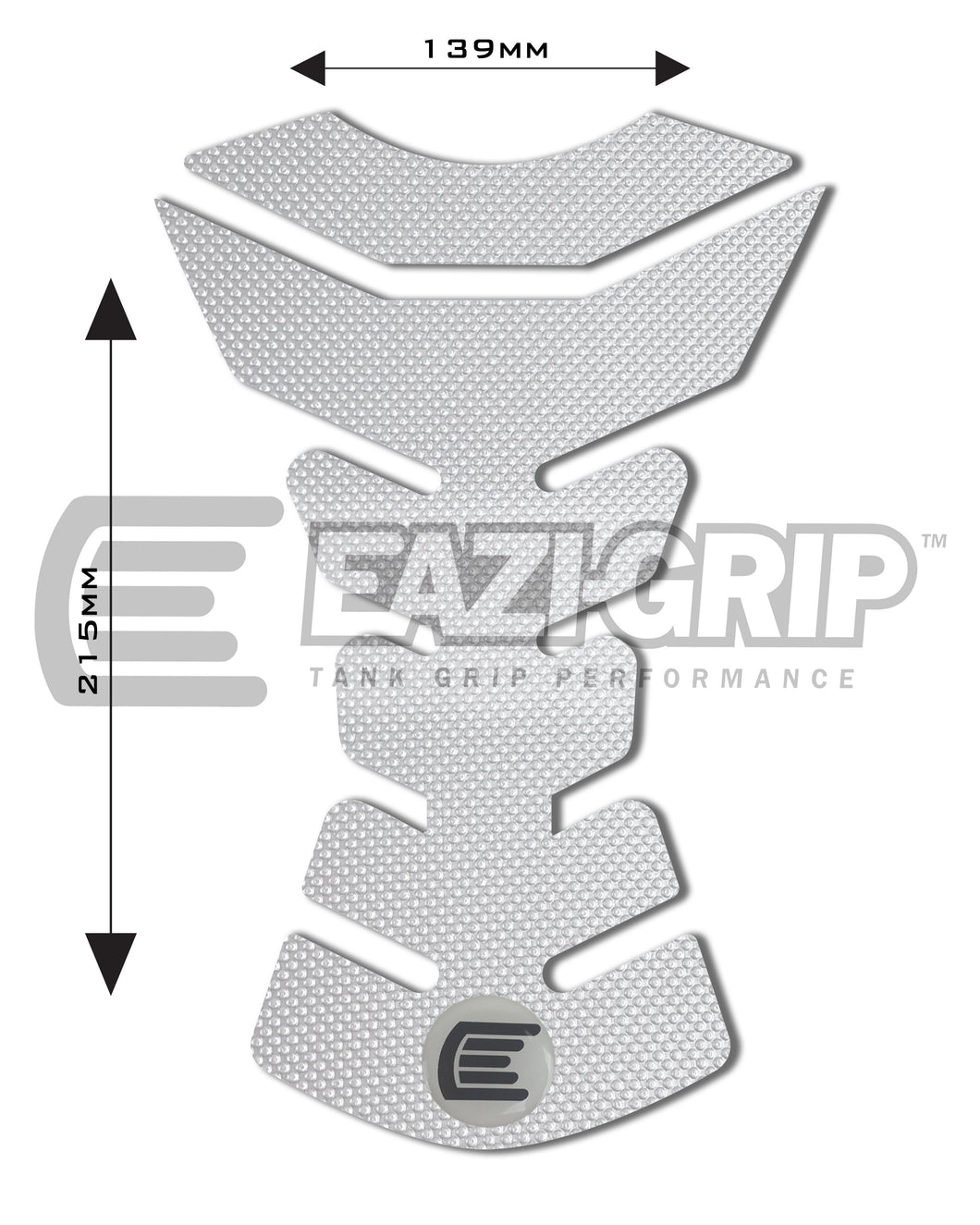Eazi-Grip PRO Centre Tank Pad D 139mm x 215mm  clear