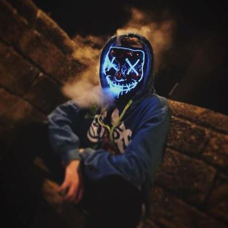 LIGHT BLUE Purge Halloween Led Mask