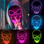 Skull Head Led Mask Halloween
