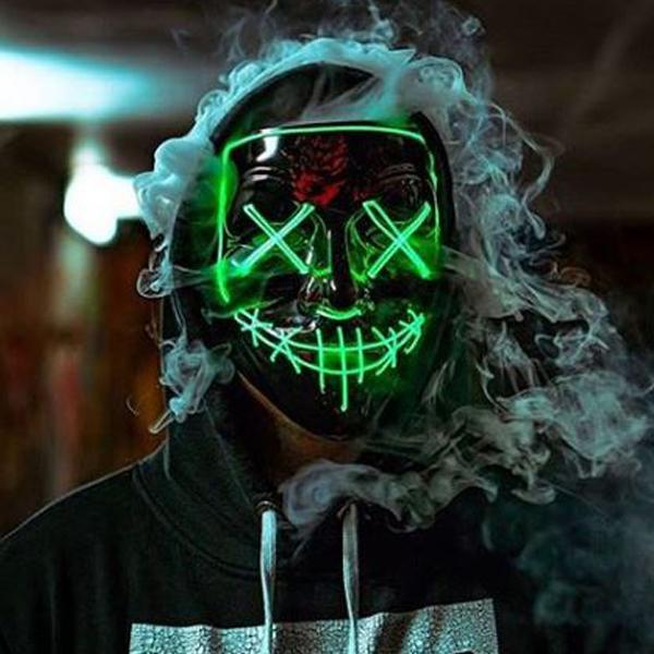 Purge Halloween Mask With Lights