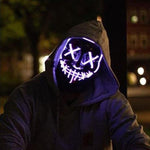 PURPLE Purge Halloween Led Mask