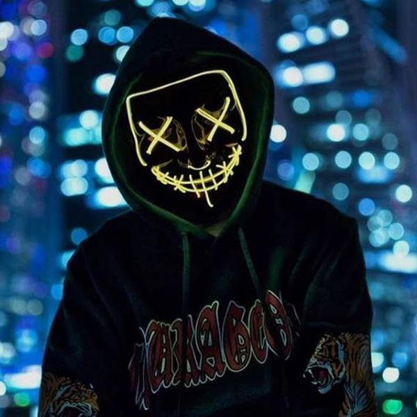 YELLOW Purge Halloween Led Mask