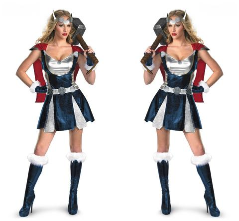 BFJFY Women Halloween Superhero Female Thor Cosplay Dress Outfit - BFJ Cosmart