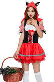 BFJFY Halloween Women's Little Red Riding Hood Fairy Tale Cosplay Costume - BFJ Cosmart