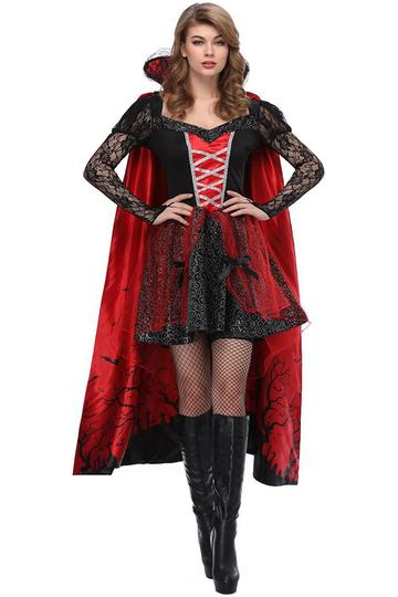 BFJFY Women's Vampire Costume Dress Dracula Outfit Halloween Dress Up - BFJ Cosmart