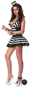 BFJFY Women's Black And White Stripes Prisoners Cosplay Costume For Halloween - BFJ Cosmart