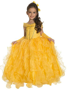 BFJFY Halloween Girl's Beaty And The Beast Layered Princess Belle Cosplay Dress - BFJ Cosmart