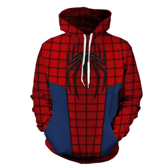 BFJ Marvel Spiderman Hooded Sweater 3D Printing Coat Leisure Sports Sweater Autumn And Winter - BFJ Cosmart