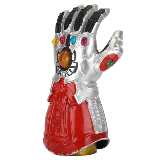Avengers: Endgame Thanos Infinity Gauntlet Gloves Led Light Infinity War Silver red Glove Halloween Cosplay Props - BFJ Cosmart
