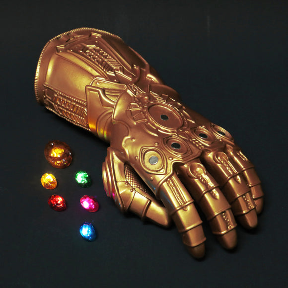 Kids Avengers 4: Endgame Thanos Infinity Gauntlet Gloves Stone Movable Led Light Infinity War Glove for kids - BFJ Cosmart