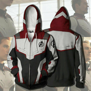 6389bed3dd9 2019 New Avengers Endgame Quantum Realm Sweatshirt Jacket Advanced Tech  Hoodie Cosplay Costumes