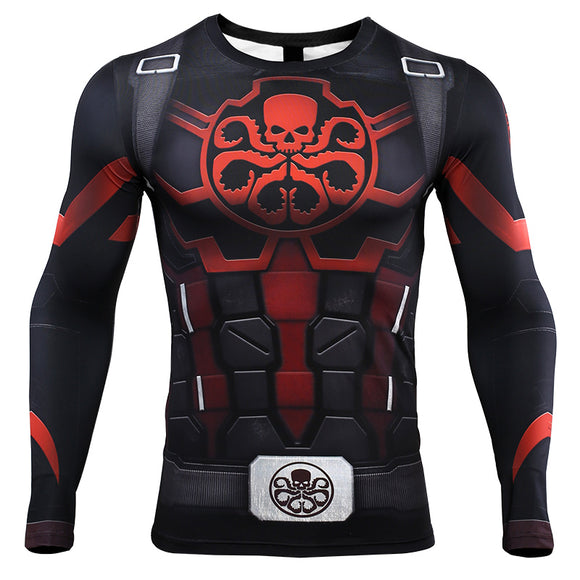 Avengers 4: endgame Captain America T-shirt Marvel Hydra Cosplay costume long sleeves quick-drying clothes - BFJ Cosmart