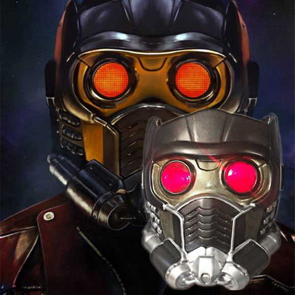 Avengers:Infinity War Star Lord LED Helmet Cosplay Guardians of the Galaxy Vol 2 Helmet LED Light Mask - BFJ Cosmart