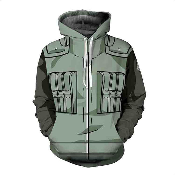 BFJmz Hokage Ninjia Naruto 3D Printing Coat Zipper Coat Leisure Sports Sweater Autumn And Winter - BFJ Cosmart