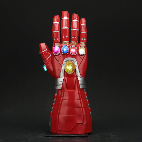 Avengers 4 Endgame Iron Man Arm Infinity Gauntlet Cosplay Gloves Led Light Superhero Gloves Party Props - BFJ Cosmart