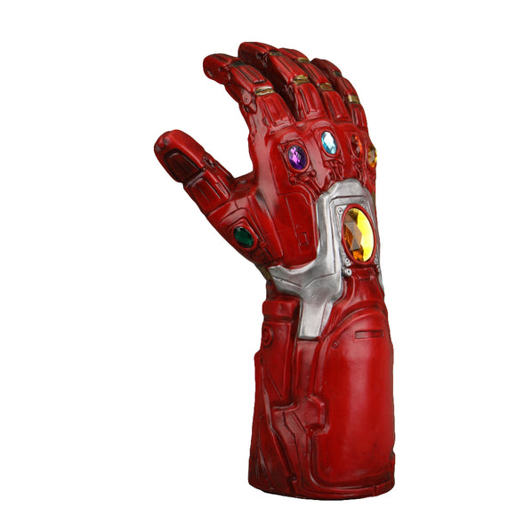 2019 Avengers 4 Endgame Iron Man Infinity Gauntlet Cosplay Arm Thanos Red Latex Gloves Superhero Gloves - BFJ Cosmart