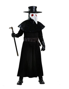 BFJFY Halloween Men's Plague Doctor Costum Doctor Crow Mouth Cospaly Costume - BFJ Cosmart