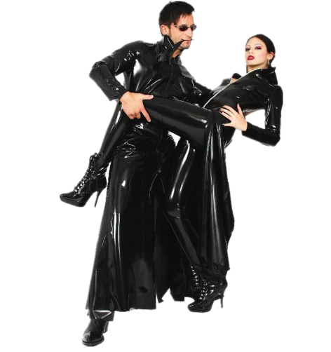 BFJFY Halloween The Matrix Spy Cosplay Costume Long Coat For Men And Women - BFJ Cosmart