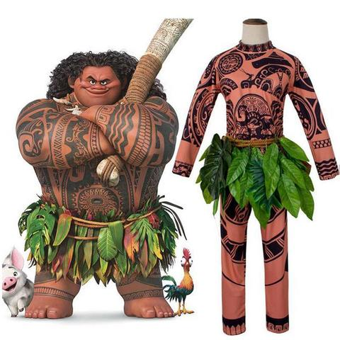 BFJFY Men's Halloween Movie Moana Maui Pimitive Man Cosplay Costume - BFJ Cosmart