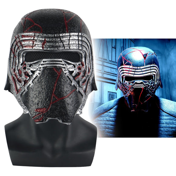 Star Wars 9 The Rise of Skywalker Kylo Ren Helmet Cosplay Halloween Party Prop - BFJ Cosmart