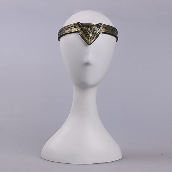 2017 Movie Wonder Woman Superhero Diana Prince Leather Headgear Metal Badge Ring Accessories Cosplay Bronze Crown Band Headgear - BFJ Cosmart