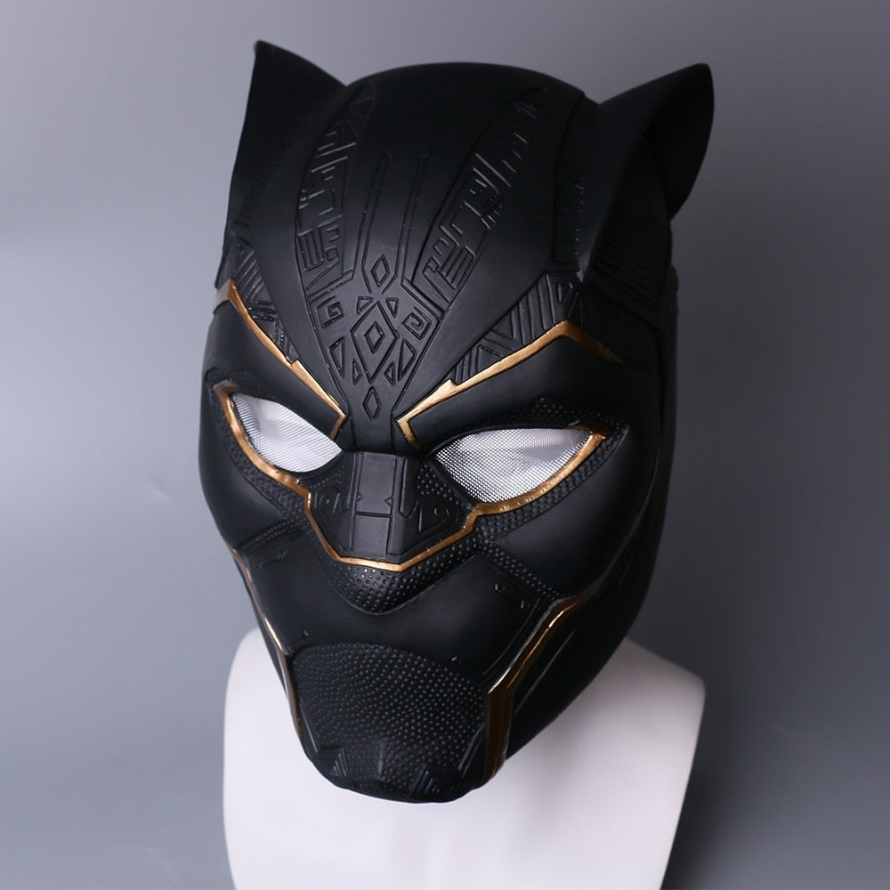 2018 Black Panther Helmet Infinity War Gold Black Panther PVC Helmet Superhero
